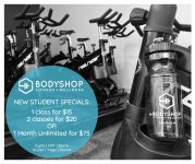 Bodyshop Fitness + Wellness New Student Specials